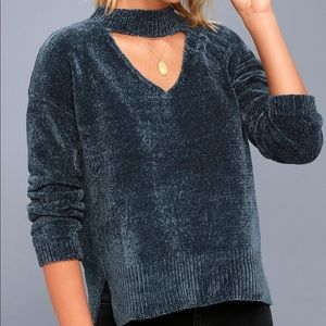Sweaters - Chenille cutout sweater